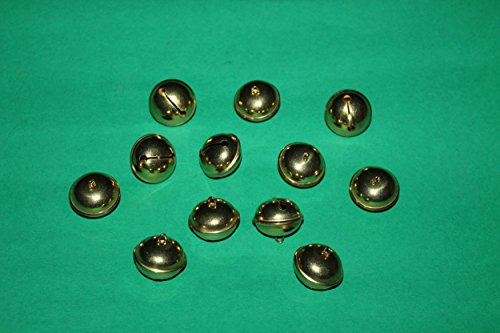 Sonagli in ottone conf.da una dozzina diametro mm 16-18-20-25 Campanellini (Diametro mm 16)