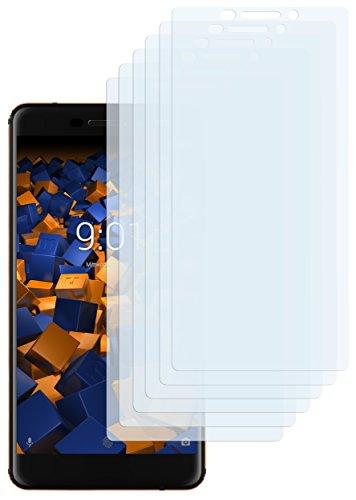 mumbi Schutzfolie kompatibel mit Nokia 6 2018 Folie klar, Bildschirmschutzfolie (6x)