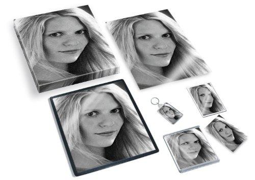 SIENNA MILLER - Original Art Gift Set #js001 (Includes - A4 Canvas - A4 Print - Coaster - Fridge Magnet - Keyring - Mouse Mat - Sketch Card)