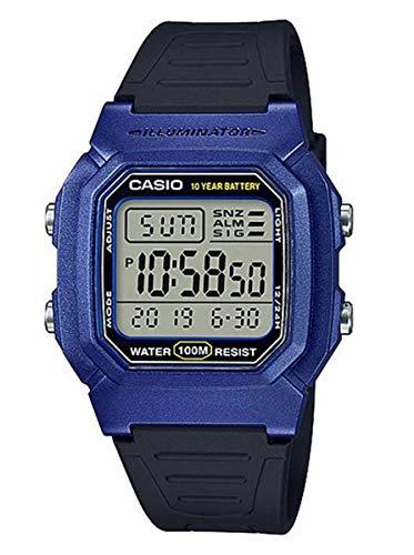 casio orologio digitale quarzo uomo con cinturino in resina w-800hm-2avef