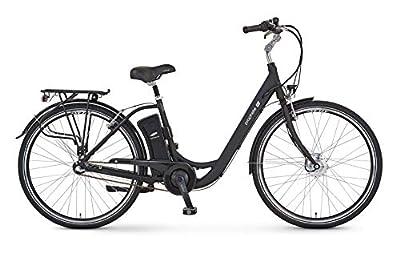"Prophete Unisex- Erwachsene GENIESSER e9.3 City E-Bike 28"" Elektrofahrrad schwarz matt RH 48 cm"
