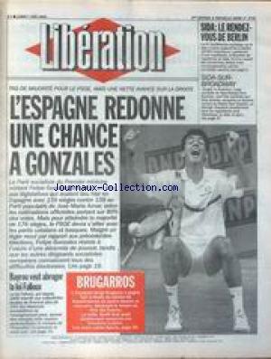 LIBERATION [No 3745] du 07/06/1993 - L&#...