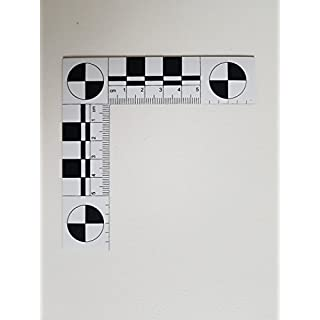 Magnetic crime scene and photo angle ruler, 5 x 5 cm, White, 1