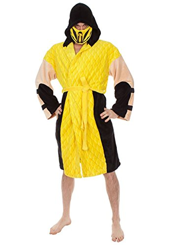 Mortal Kombat Scorpion Hooded Plush Robe