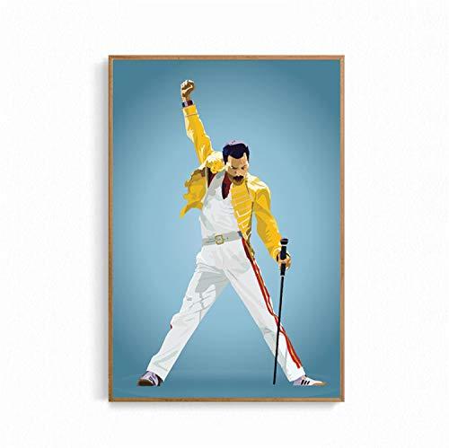 taoyuemaoyi Wandkunst Bild Room Home Decor Poster Und Drucke Königin Freddie Mercury Bohemian Rhapsody Poster Dekorative Leinwand Malerei 40 * 60 cm