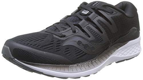 Saucony Ride ISO, Zapatillas de Running para Hombre, Negro (Black 2), 45 EU
