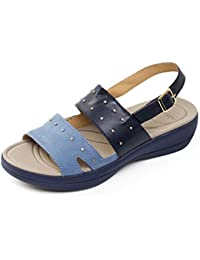 a21d2866590 Padders Women s Leather Sandal  Cameo