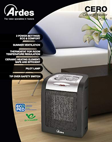 Zoom IMG-1 ardes ar4p07a cero termoventilatore ceramico