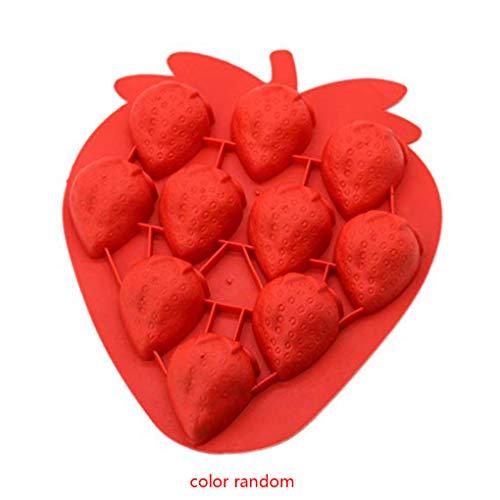 Kostüm Cube Ice - Busirde Farbe Random Silikon Strawberry Ice Cube Tray Tools Schokoladen-Form DIY Schöne Freeze-Bar