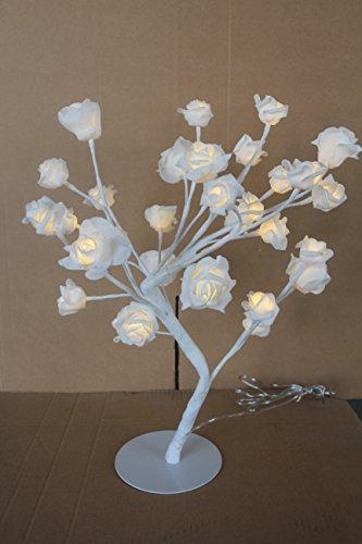Led Lichterbaum Led Rosenbaum 45cm mit Rosen 32 Led warmweiß Innen Rosenblüten-Kirschblüten -