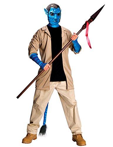 Avatar Jack Sully Herren Kostüm Lizenzware beige schwarz blau XL