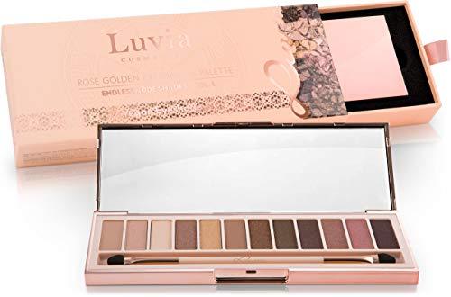 Luvia Profi Lidschatten-Palette - Endless Nude Eyeshadow Palette - Inkl. 12 Matten & Warmen Schimmer Tönen - Limitierte Geschenkbox