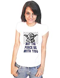 LetsFlaunt Star wars may the force be with you T-shirt girls white Dry-Fit Nw
