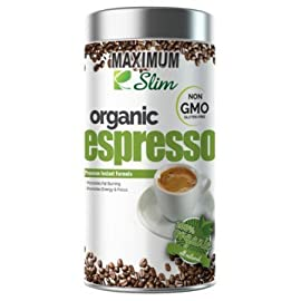 MAXIMUM SLIM Gourmet Espresso: – 100% Arabica Coffee, (Non GMO) Stimulates KETOSIS, Boosts Your Energy & Focus…