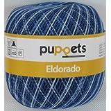 50g Puppets eldorado - Farbe: 54 - blau meliert - Häkelgarn Stärke 10