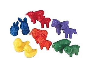 Learning Resources- Figuras de Animales Friendly Farm (Juego de 72), Color (LER0180)