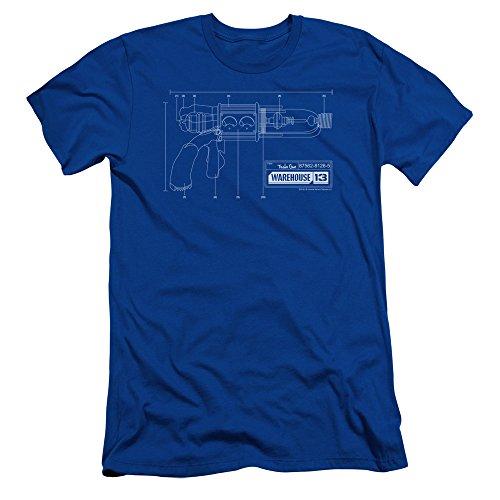 2Bhip Warehouse 13 Science Fiction Fantasy TV Series Tesla Gun Adult Slim T-Shirt Tee