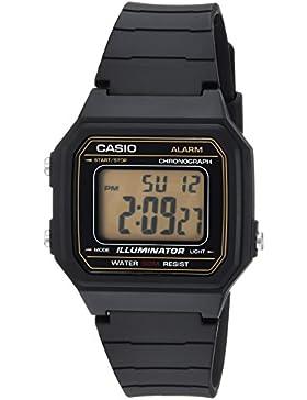 Casio Hombre 'Classic' resina de cuarzo Casual reloj, color: negro (modelo: w-217h-9avcf)