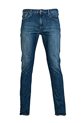 Armani Jeans Men's Slim-Fit Midwash Blue Stretch Denim 8N6J06 6D0MZ