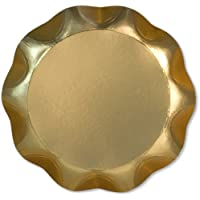 N°2 Vassoio Oro Satinato diam.30cm cartoncino