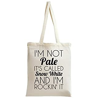 I'm Not Pale It's Called Snow White Funny Slogan Tote Bag