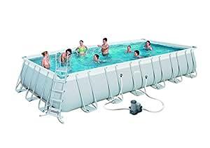 Bestway set piscina fuori terra rettangolare - Piscine fuori terra amazon ...