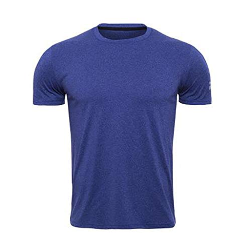 Long Sleeve Tight Crew Shirt (Herren Enge Kunststoff-Hefte Quick-Kragen runden Hals kurzen Ärmel Fitness-Kleidung Yanhoo Fitness Short Sleeves Rashguard T-Shirt Bodybuilding Skin Tight-Drying Tops)
