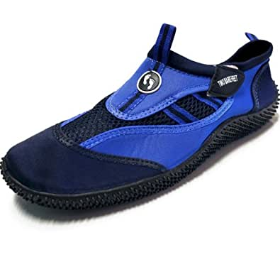 Two Bare Feet DX Wetshoes by Adults/Childrens - Sizes Infant 6 To Adult 12 Unisex - (Kids/Infant 5, Blue)