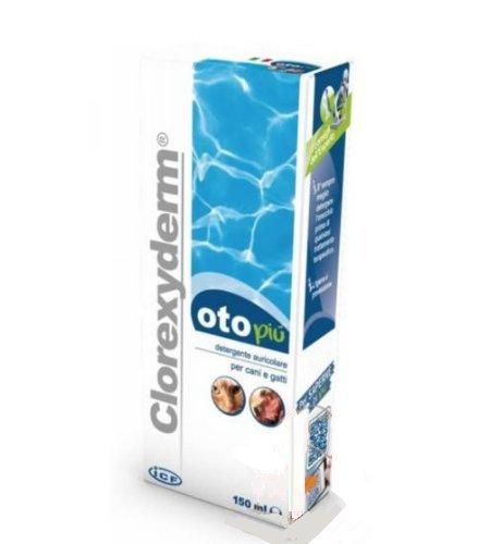 Icf Clorexyderm oto più 150 ml - Detergente auricolare per cani e (Pulizia Dell'orecchio Cani)