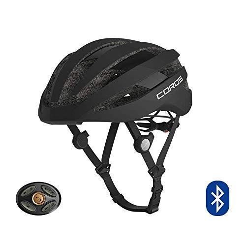 COROS SafeSound - Sistema de sonido para casco de ciclismo con sistema de apertura de orejas, llamadas de teléfono con música Bluetooth, control remoto inteligente, ligero, matte black, L (59-63CM)