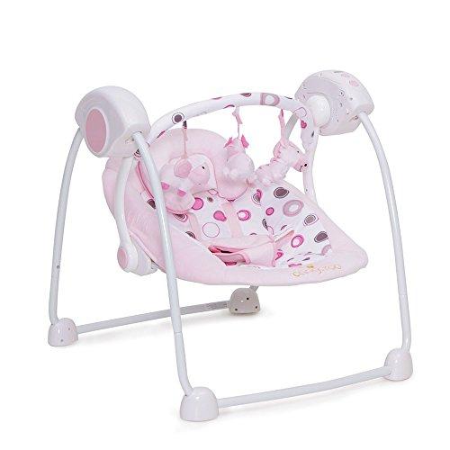 Babywippe Swing elektrisch mit Musikfunktion (Rosa)