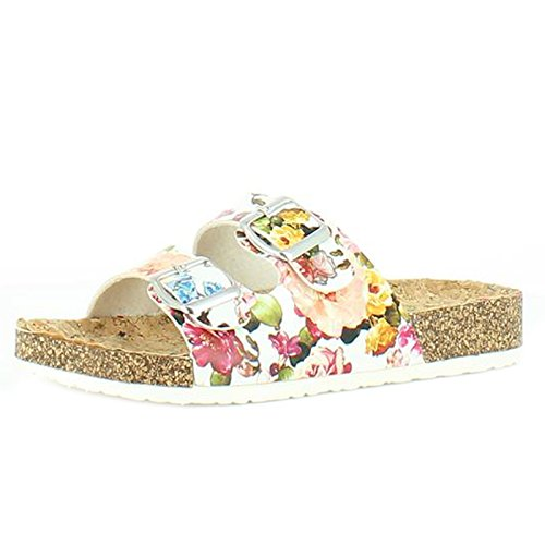 Heavenly Feet Heavenly Feet Lilley White Sandals, Sandali donna White Floral