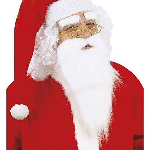 chtsmann Bart mit Schnurrbart und Augenbrauen, Unisex- Erwachsene, Weiß, One Size ()