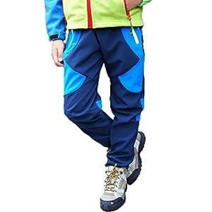 Pantalones de Trekking Hombre Pantalones de Softshell Pantalones Transpirable de Escalada Pantalones Impermeable Deportes Calentar Invierno Grueso Táctico Pantalones Xinan
