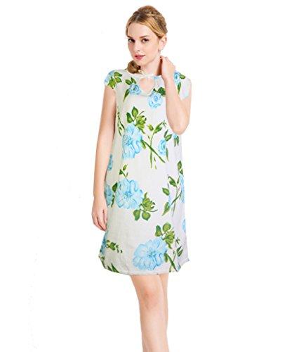 Damen Baumwolle Bademantel Floral Velour Morgenmantel Schlafanzug Nachtw?sche (Olivia Schlafanzug)