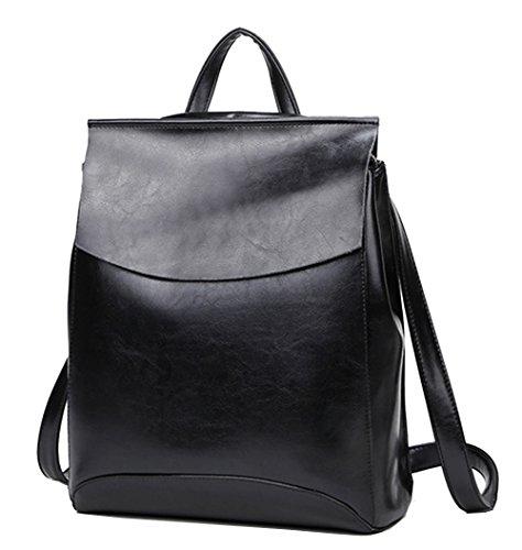 Yan Show Damen Neu Leder Schulter Taschen Rucksack Handtaschen (Leder Echt Rucksack)