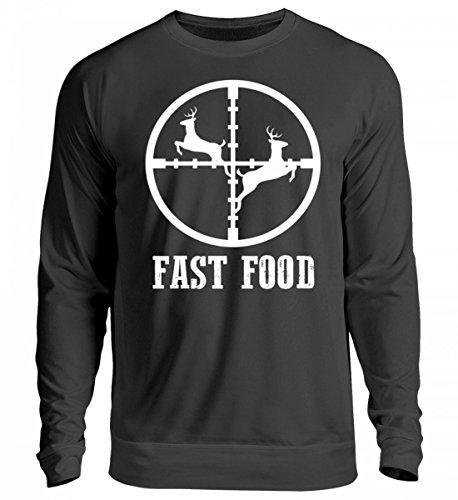 SwayShirt Hochwertiger Unisex Pullover - für den Jäger · Jagen · Jagd · Jagdhund · REH · Förster · Wald · Fast Food · Echte Männer · Jägerbekleidung · - Jäger Und Reh Kostüm