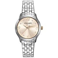 Pierre Cardin Womens Quartz Watch, Analog Display and Stainless Steel Strap PC108162F05