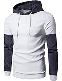 Batnott Herren Hemd Men Casual Langarm-Kapuzenshirt Stitching Warm Coat  Jacket Outdoor Outwear Sport Tops 0d8ab1f674