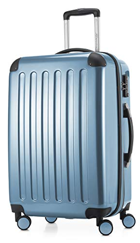 HAUPTSTADTKOFFER - Alex - Valise Moyenne Rigide Bagage Trolley 4 Roues, TSA, 65 cm, 74 litres, Pool Blue