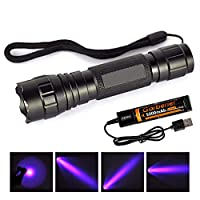 ‏‪UV Blacklight Flashlight for Pet Urine and Stains Detector, Tactical Blacklight for Scorpion Hunting‬‏