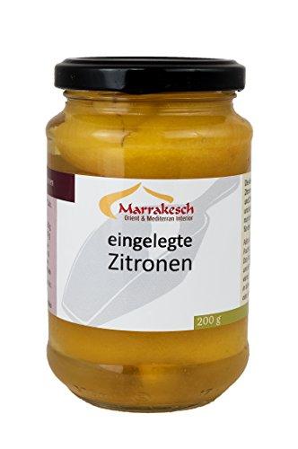 Marokkanische Eingelegte Salzzitronen Zitronen von Marrakesch - 200g Netto Abtropfgewicht (EUR 4,99/100g)