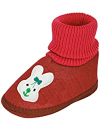 INSTABUYZ Baby Girl's and Boy's Star Black Cotton Slip-on Casual Bootie (12-18 Month)