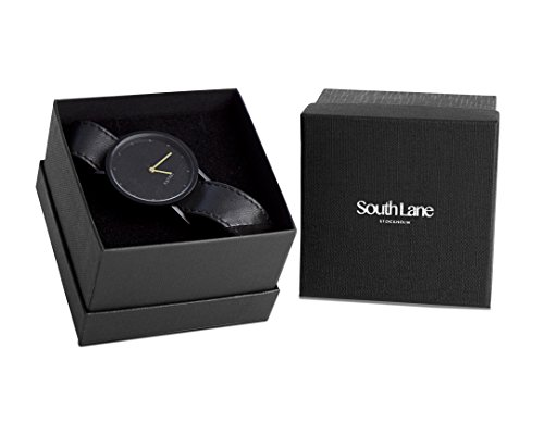 South Lane Sodermalm Gold Unisex Quartz Watch with Silver Dial Analogue Display and Blue Fabric And Canvas Bracelet 913.0