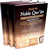 Study the Noble Quran Word for Word ( 3 vol )