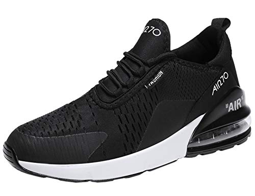 Gnediae unisex adulto air 270 a collo basso sneakers scarpe da corsa sportive running basket sport outdoor fitness respirabile mesh nero 40 eu