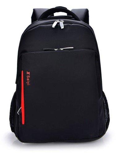 LINGE-15 Zoll Laptop Tasche Multi-Funktions-Rucksack Business und Freizeit Reisen wasserdichte gepolsterte Fächer für Männer und Frauen Sport Black