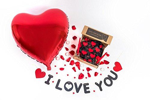 Pack ROMÁNTICO I Love You100 Pétalos Rosa Preservados+1