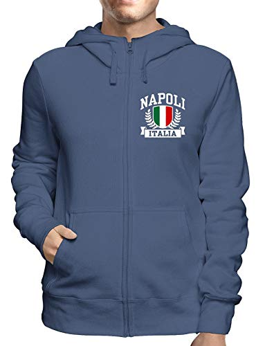Sweatshirt Hoodie Zip Navy TSTEM0274 Napoli Italia