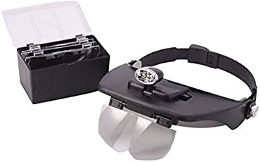 Lista Lista053 Adjustable Headband Magnifying Glass with Replacement Lenses